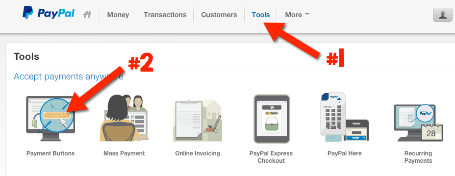 Paypal Hosted Buttons - Menu