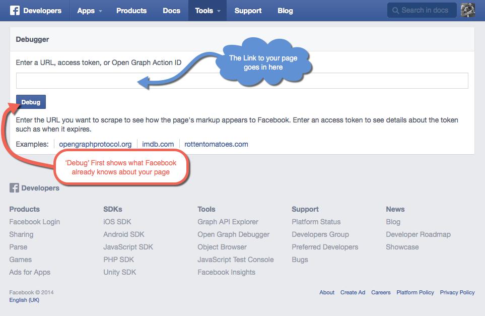 Facebook Debugger Step 1
