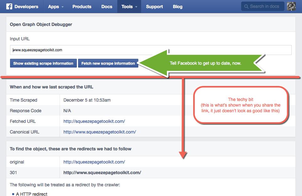 Facebook Debugger Step 2